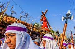 基督受难日队伍,安提瓜岛,危地马拉 免版税库存图片