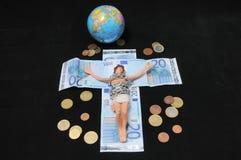 基督和金钱 库存照片