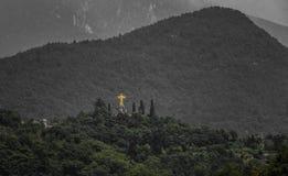 基督国王在别恩诺意大利 免版税图库摄影