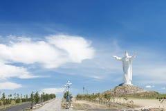 基督国王纪念碑波兰swiebodzin 库存照片