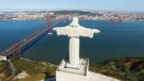 基督国王里斯本葡萄牙 库存图片
