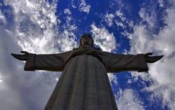 基督国王雕象在里斯本 库存照片