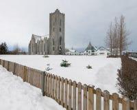 基督国王Cathedral在雷克雅未克 免版税图库摄影