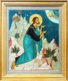 基督图标耶稣阁下祈祷 库存照片