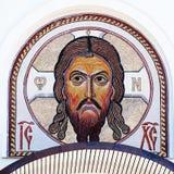 基督图象耶稣马赛克 免版税图库摄影