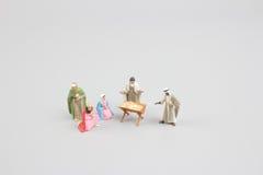 基督圣诞节小儿床耶稣・约瑟夫・玛丽诞生场面 三个圣人的崇拜 小耶稣 免版税图库摄影