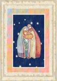 基督圣诞节耶稣・约瑟夫・玛丽 免版税库存图片
