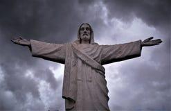 基督在库斯科,秘鲁的救世主雕象 库存图片