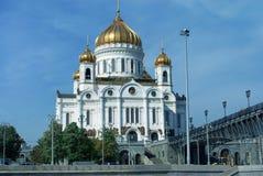 基督大教堂救主在莫斯科,俄国 免版税图库摄影