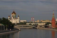 基督大教堂救主在莫斯科 免版税库存图片