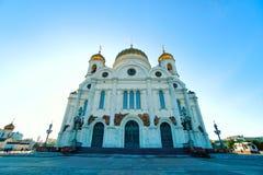 基督大教堂救主是一个东正教大教堂在日落时间 库存图片