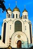 基督大教堂救主。加里宁格勒(直到1946年Koenigsberg),俄罗斯 免版税库存照片