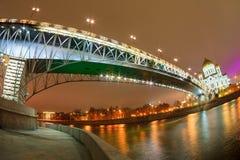 基督大教堂救主在晚上,莫斯科,俄罗斯 免版税图库摄影
