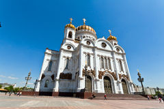 基督大教堂救主在莫斯科,俄罗斯。 库存图片
