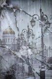 基督大教堂的反射一残破的gla的救主 免版税库存图片