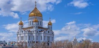 基督大教堂看法救主在莫斯科 俄国 库存照片