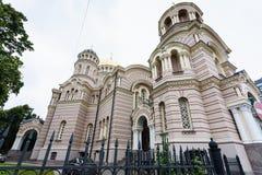 基督大教堂诞生在里加市 库存照片