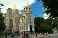 基督大教堂诞生在里加,拉脱维亚 免版税库存照片
