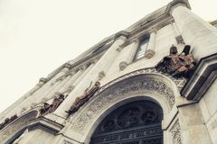 基督大教堂门面救主在莫斯科 免版税库存图片