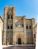 基督大教堂阿维拉的救主,被认为西班牙的第一个哥特式大教堂 免版税图库摄影