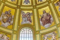 基督天使保罗圆顶圣徒斯蒂芬斯大教堂布达佩斯匈牙利 图库摄影