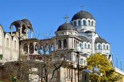 基督寺庙圣约翰寺庙复杂风雨棚的救主浸礼会教友,索契,俄罗斯 免版税库存照片