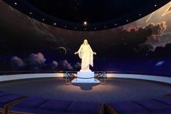 基督市耶稣湖盐雕象 免版税库存照片