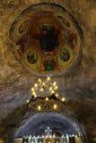 基督徒东正教天花板地下在盐矿 免版税图库摄影
