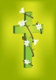 基督徒十字架和白百合2 图库摄影