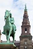基督徒哥本哈根IX国王纪念碑 免版税库存图片