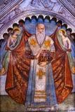基督徒圣徒壁画圣玛丽亚中篇小说教会佛罗伦萨意大利 库存图片