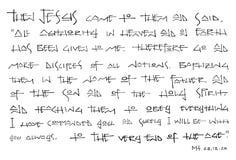基督徒圣经的词组墨水例证 免版税库存图片