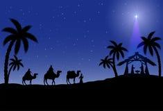基督徒圣诞节场面 图库摄影