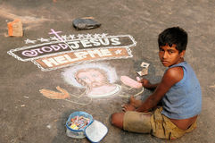 年轻基督徒在印度 库存照片