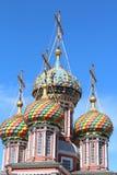 �9��yl#�+Ni+�ZJ~Zh_基督徒大教堂在nizhnij诺夫哥罗德. 免版税图库摄影