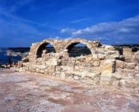 基督徒大教堂废墟, Kourion 免版税库存图片
