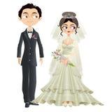基督徒婚礼夫妇 免版税库存图片