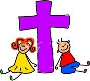 基督徒孩子 库存例证