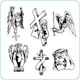 基督徒宗教信仰-向量例证。 免版税库存图片