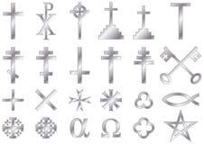基督徒宗教标志银 免版税库存图片