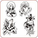 基督徒宗教-传染媒介例证。 免版税图库摄影