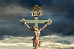 基督徒的耶稣基督INRI救主 免版税库存图片