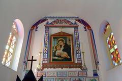基督徒象在里面wuxingjie教会里,多孔黏土rgb 免版税库存图片