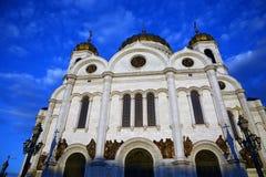 基督救世主大教堂在莫斯科 彩色照片 免版税库存图片
