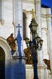基督救世主大教堂在莫斯科 彩色照片 库存图片