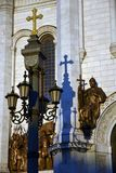 基督救世主大教堂在莫斯科 彩色照片 图库摄影