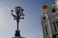 基督救世主大教堂在莫斯科 颜色冬天照片 库存图片