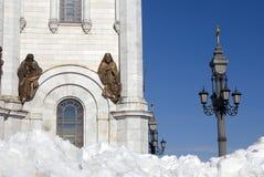 基督救世主大教堂金黄葱在莫斯科 图库摄影