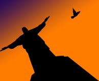 基督救世主雕象 库存照片
