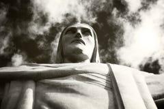 基督救世主的剧烈的射击 免版税库存照片